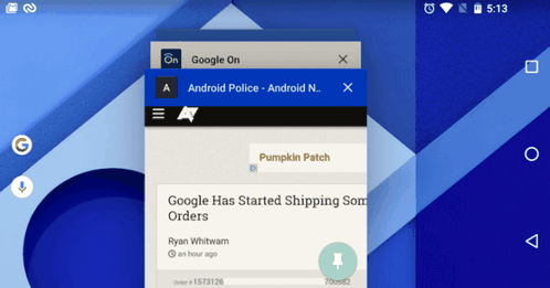 Android 6.0 has simplified access to information about the application