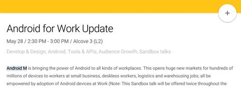 The announcement of Android M scheduled for May 28