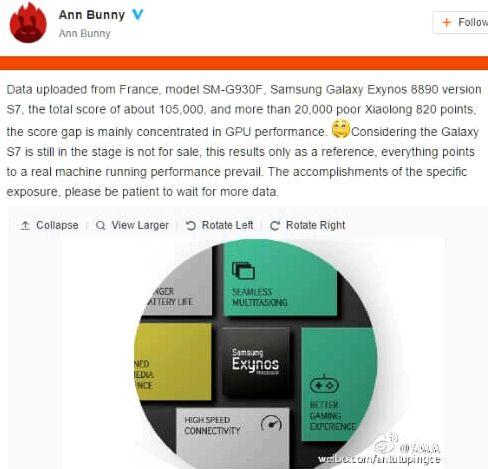 AnTuTu published a Galaxy S7 test