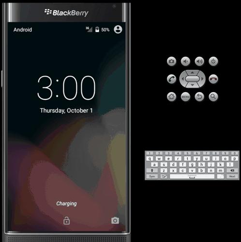 BlackBerry emulator presented Priv