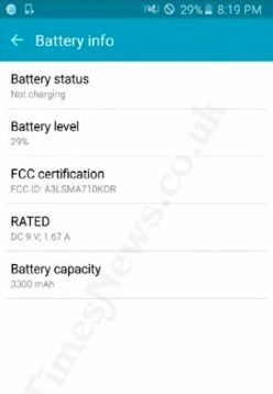 Galaxy A7 is certified by FCC