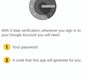 Google Authenticator received Material Design