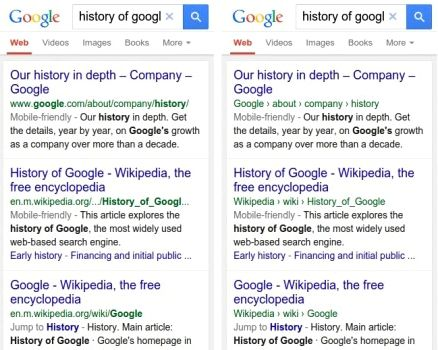 Google will display different search results