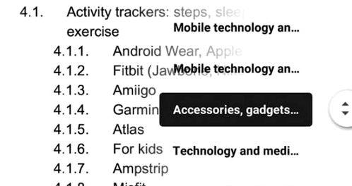 Google Docs has a new navigation function