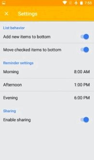Google Keep received common settings for notes and reminders