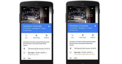 Google Maps and Search Notify me on holidays