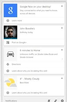 Google Now is now, and Google Chrome Canary