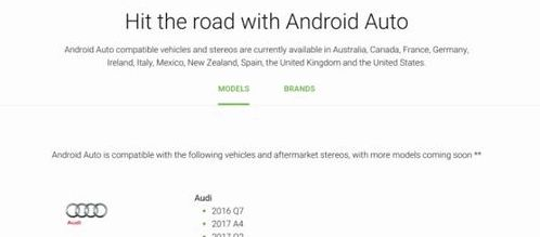 Google updated the website for Android Auto