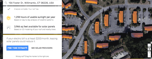 Google expanded the territory Project Sunroof