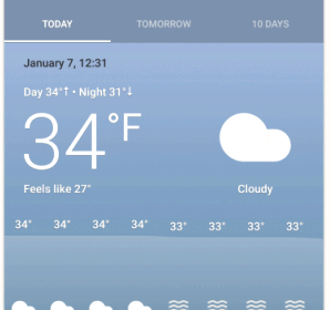 Google is testing a new Google Now cards weather