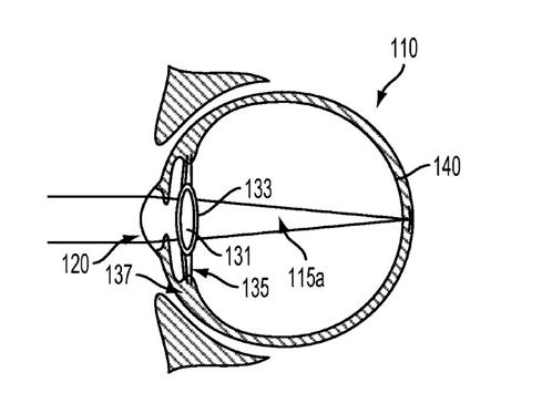 Google patented the Android-powered device to the eye