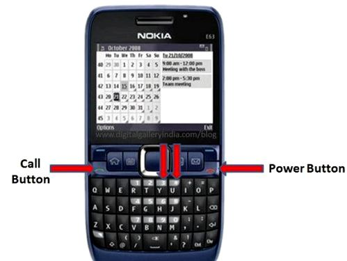 Hard Reset Nokia E63 - recovery and reset
