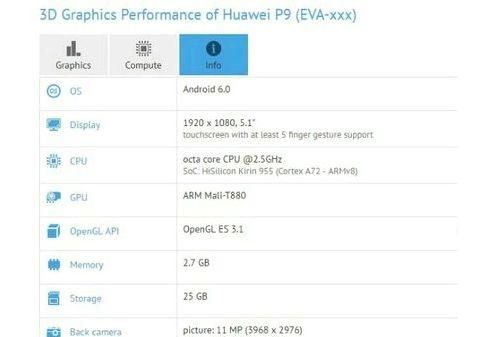 Huawei P9 receives processor Kirin 950