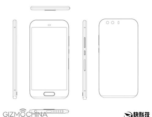 Huawei P9 appeared in the drawings
