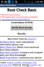 How to check the root-right on Android - yes or no?