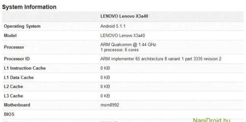 Lenovo Vibe X3 once again hit the benchmark