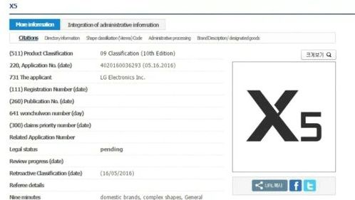 LG LG registered trademark of the X5