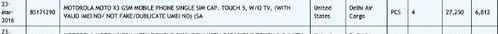 Listing Zauba confirmed the existence of Moto X3