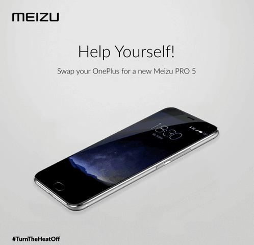 Meizu offer to exchange OnePlus 2 Pro 5