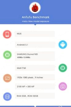 The new smartphone Meizu scored 69000 points in AnTuTu