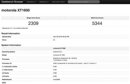 The new smartphone Moto X appeared in GeekBench