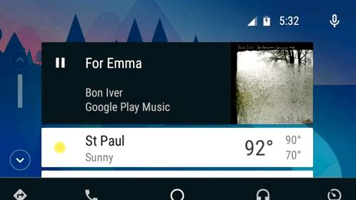 Update Android Auto brings changes in the main screen