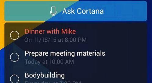 Cortana update adds new widget