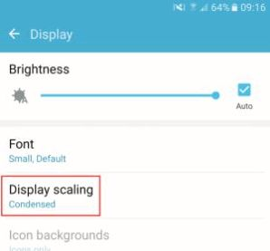 Update Galaxy S7 adds a new display mode