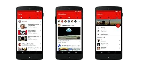 Updates YouTube introduces three new tabs