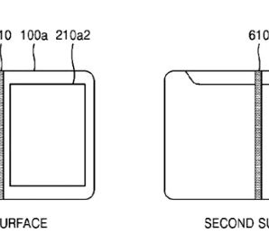 The patent application shows Samsung foldable smartphone-tablet