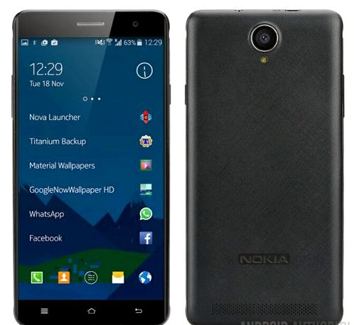 The first Android-smartphone from Nokia seemed to render