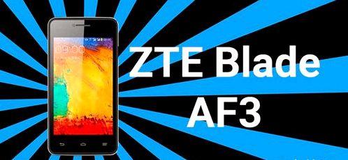 Getting Root ZTE Blade AF3
