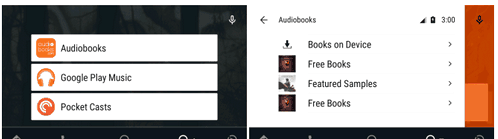 Listening to audio books on Android Auto was convenient