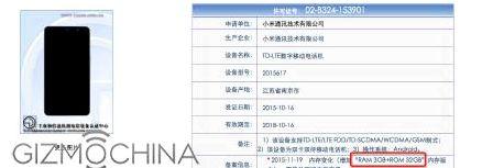 Redmi Note 3 has passed certification TENAA