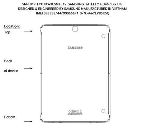 Samsung Galaxy Tab S3 is certified by FCC