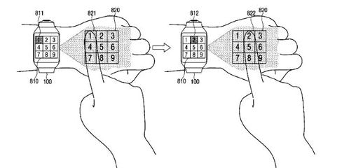 Samsung patented input technology with a projector