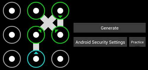 Simple graphical keys unlock pattern android