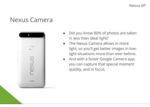 Became known information about the cameras Nexus 6P