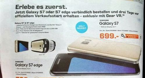 Became known the price Galaxy S7 and S7 Edge