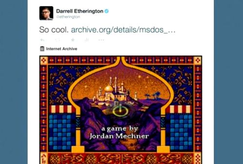 In MS-DOS games can be played directly from tweets