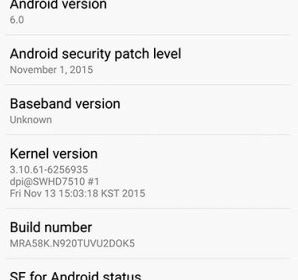 Owner Galaxy Note5 received an update to Android 6.0