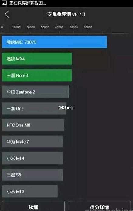 Xiaomi Mi 5 appeared in AnTuTu benchmark