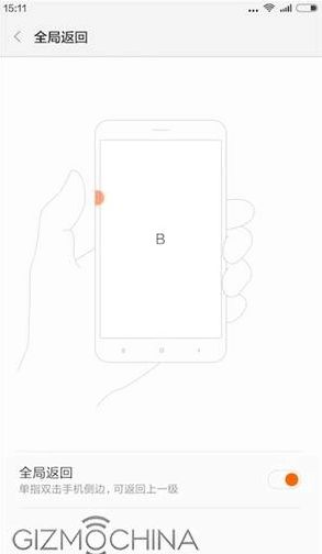 Xiaomi Mi4c function has Edge Touch