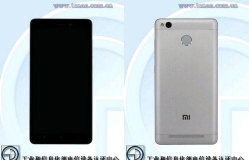 Xiaomi Redmi 3A and Redmi 3S certified TENAA
