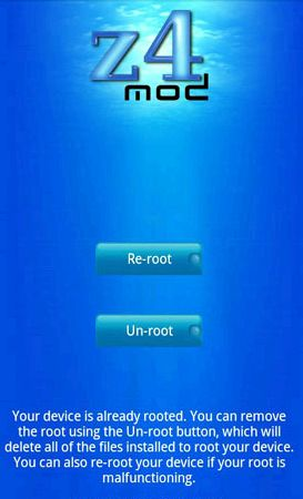 Z4root - root Android 2.0 - 2.2