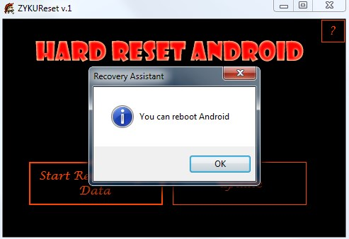 How to restore defaults in zuum sirius hard reset
