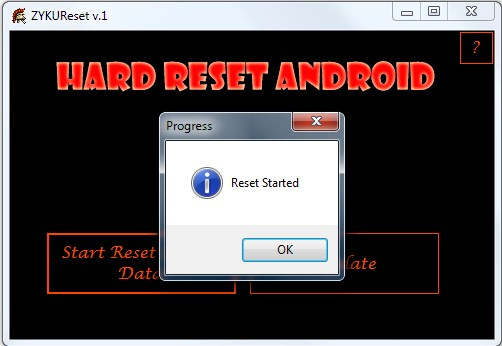 Hard reset zyq t200 on PC