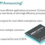 ARM announced the Cortex-A35