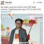 The front camera 10 will receive a HTC OIS