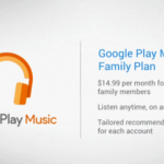 Google announced a family membership to Play Music